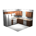 10x10 Kitchen 3-D Design